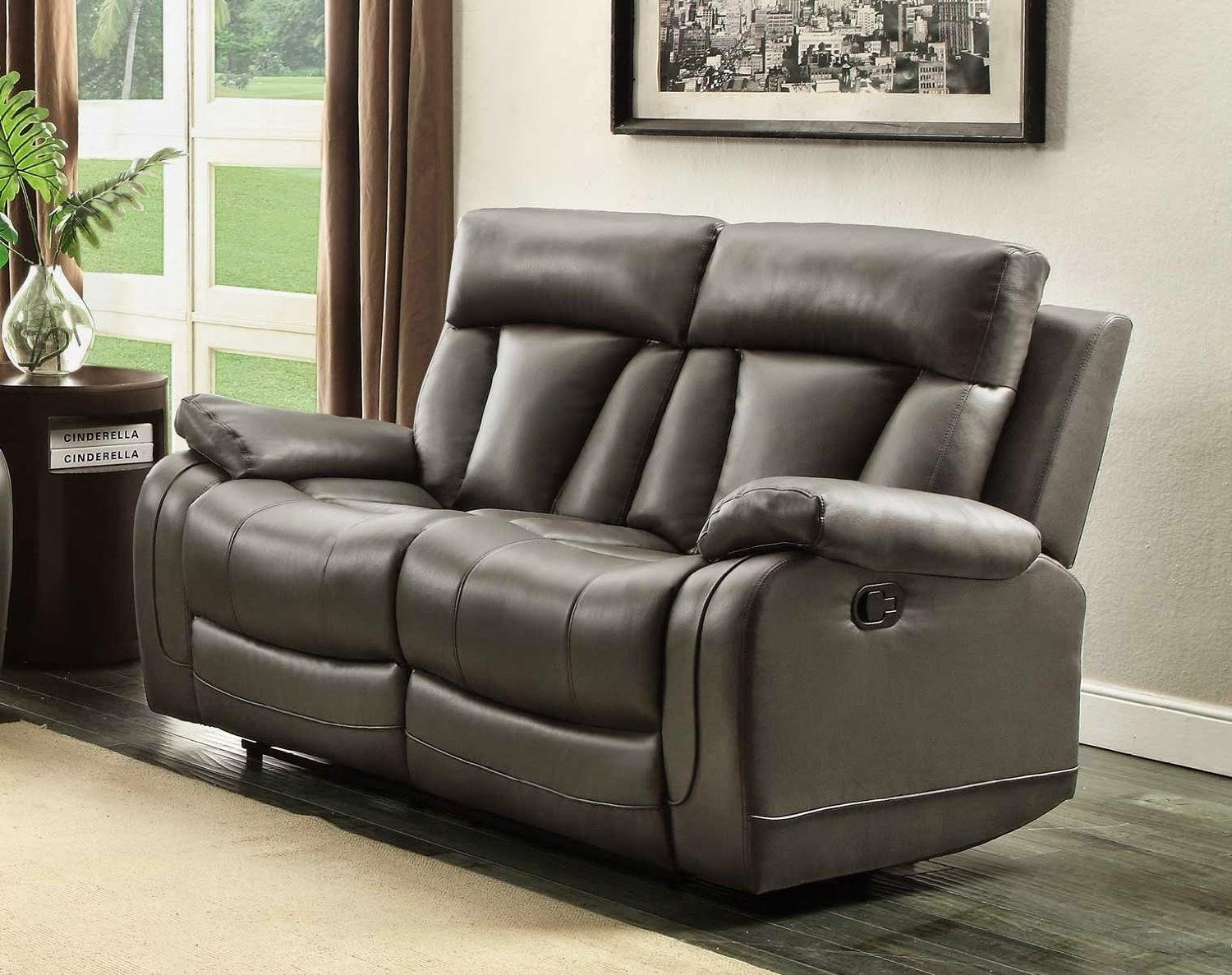 Best Reclining Sofa For The Money: Vivaldi 2 Seater Reclining Within 2 Seater Recliner Leather Sofas (Image 5 of 20)