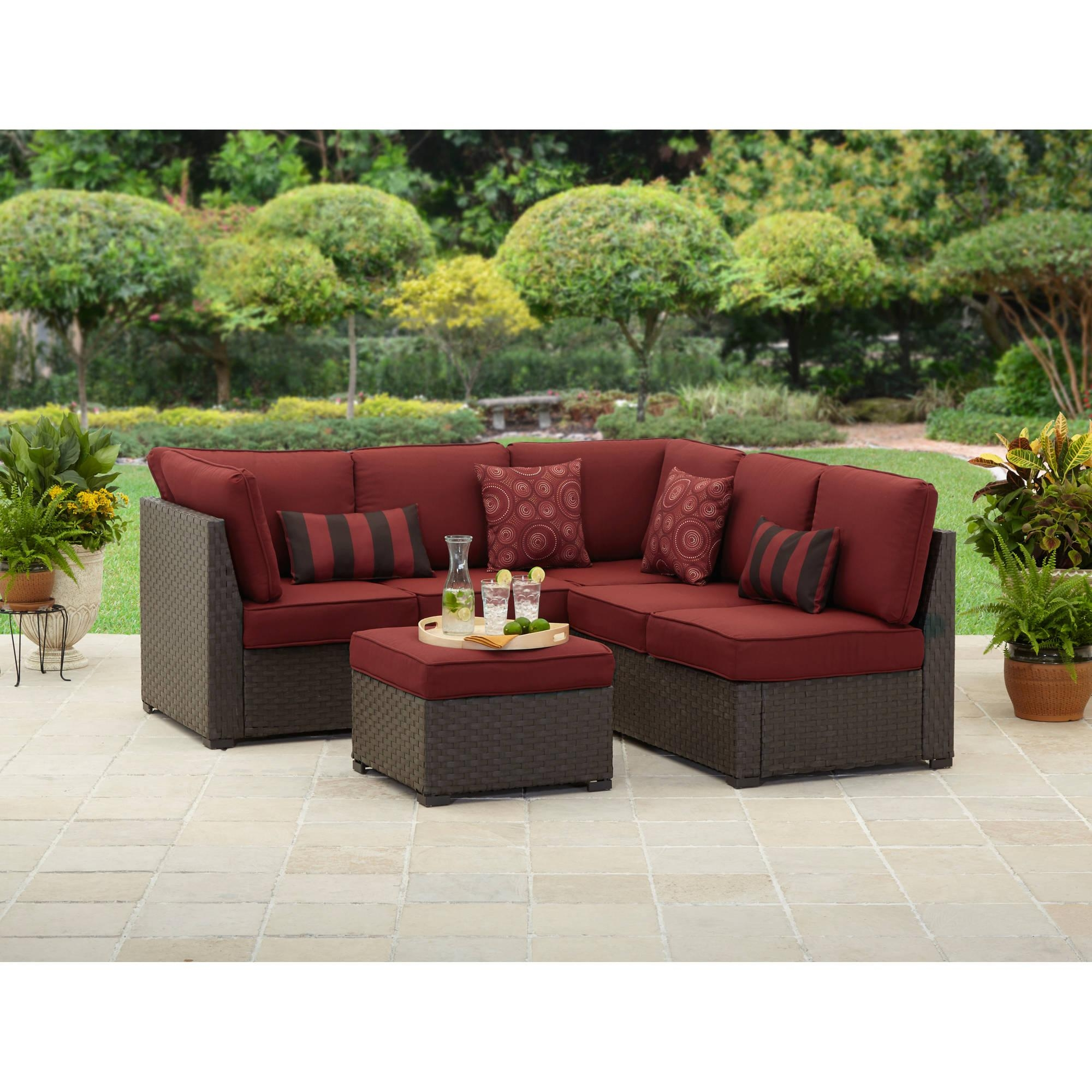 Better Homes And Gardens Rush Valley 3 Piece Outdoor Sectional Inside Cheap Outdoor Sectionals (Image 4 of 15)