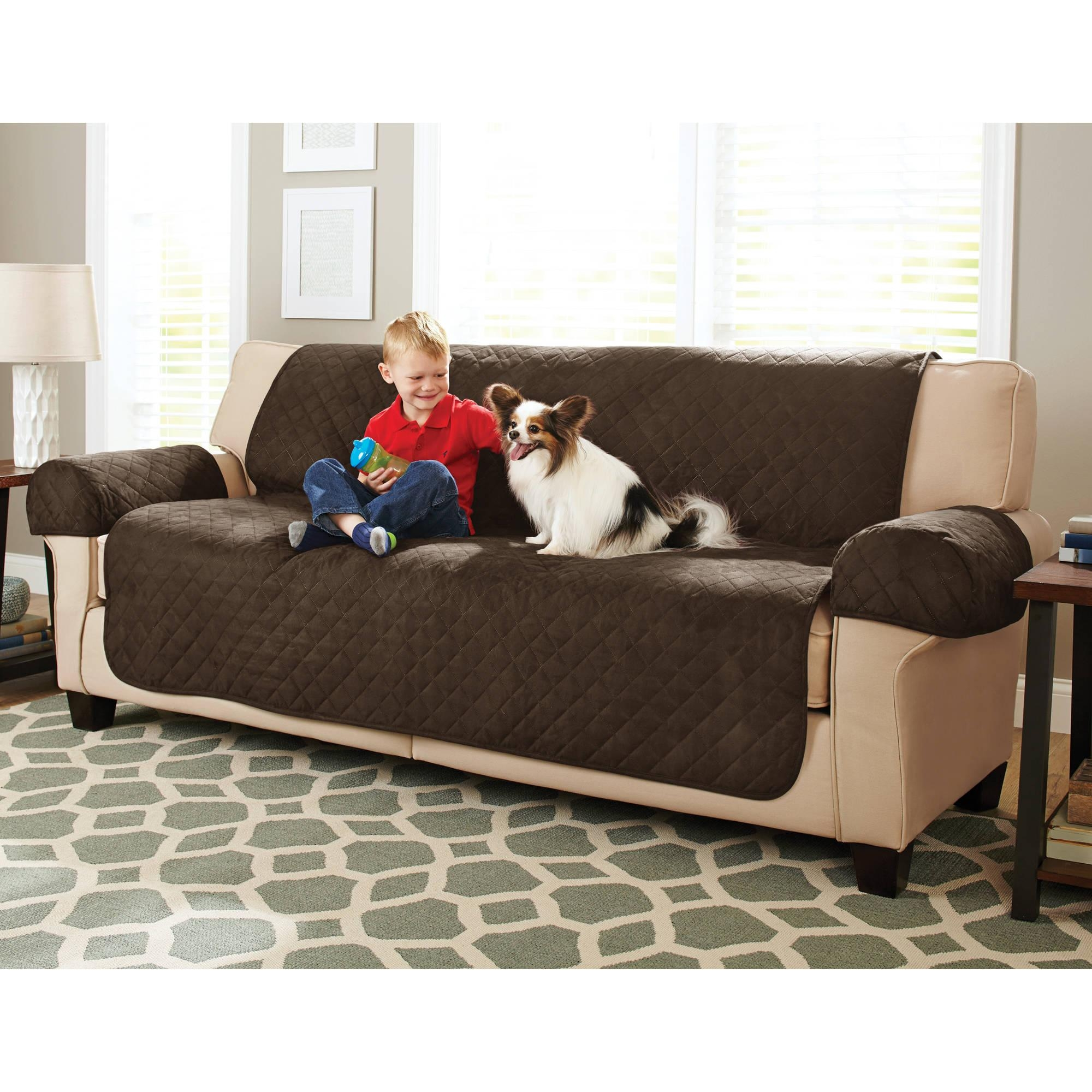 Better Homes And Gardens Waterproof Non Slip Faux Suede Pet With Regard To Suede Slipcovers For Sofas (View 3 of 20)