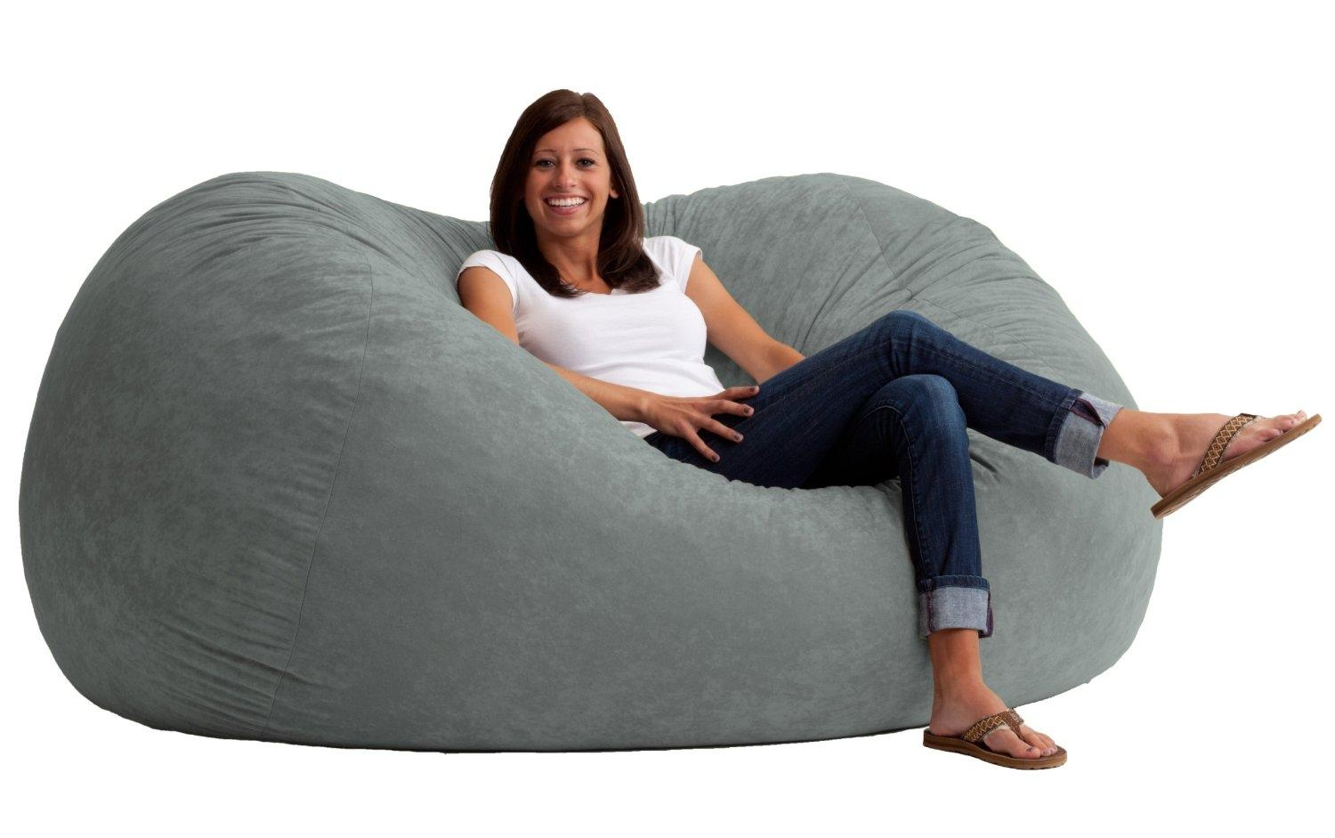 Big Joe Xl Comfort Suede Fuf | Discount Bean Bag/gaming Chairs Pertaining To Giant Bean Bag Chairs (Image 2 of 20)