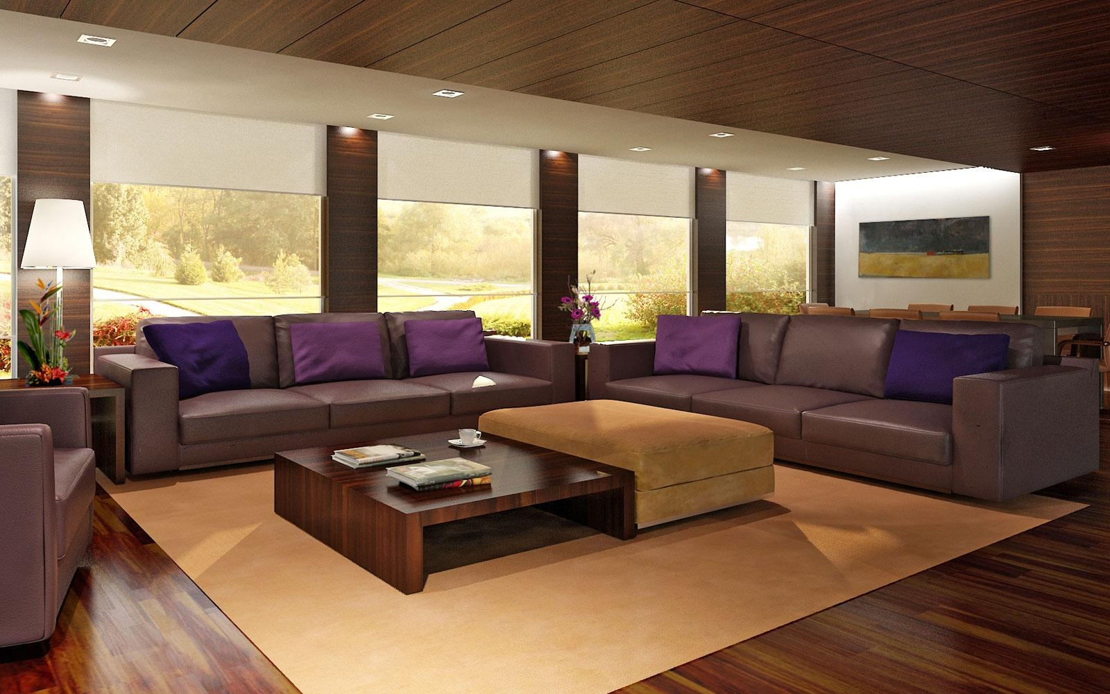 Big Living Room Wuth Large Sectional Sofa And Coffee Table And Within Big Sofa Chairs (Image 4 of 20)