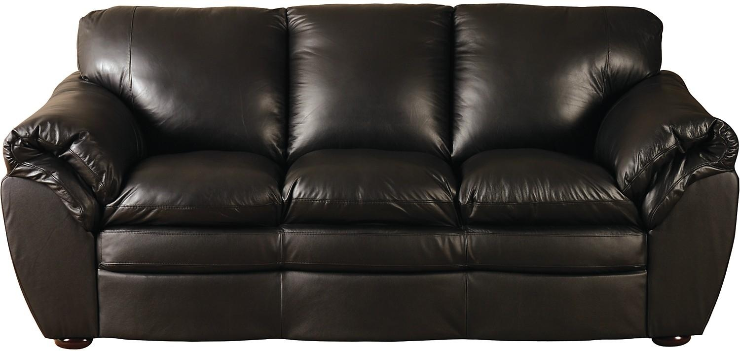 Black 100% Genuine Leather Sofa | The Brick Pertaining To The Brick Leather Sofa (View 5 of 20)