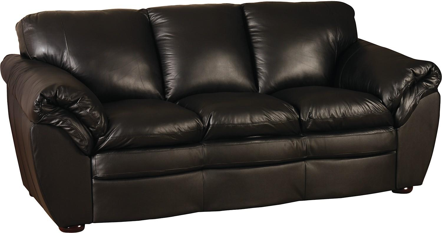 Black 100% Genuine Leather Sofa | The Brick With The Brick Leather Sofa (View 6 of 20)