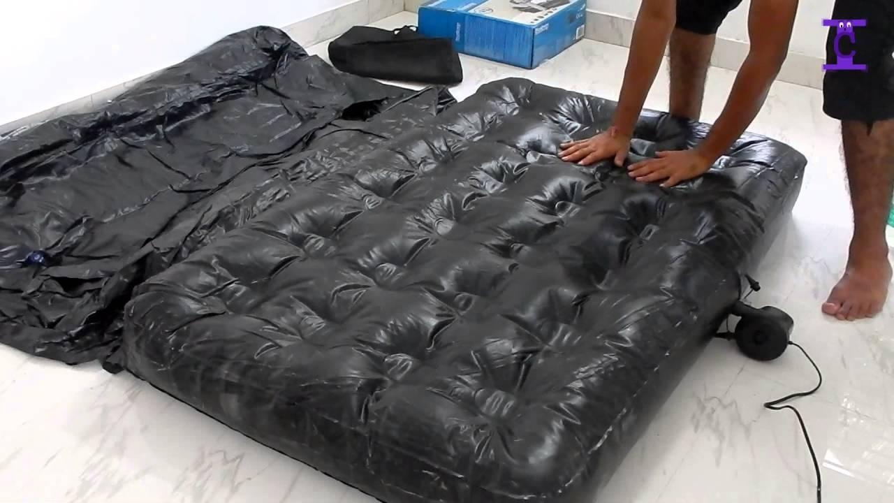 Black 5 In 1 Sofa Inflatable Bestway Air Bed | How To Setup – Youtube Regarding Inflatable Sofa Beds Mattress (Image 3 of 20)