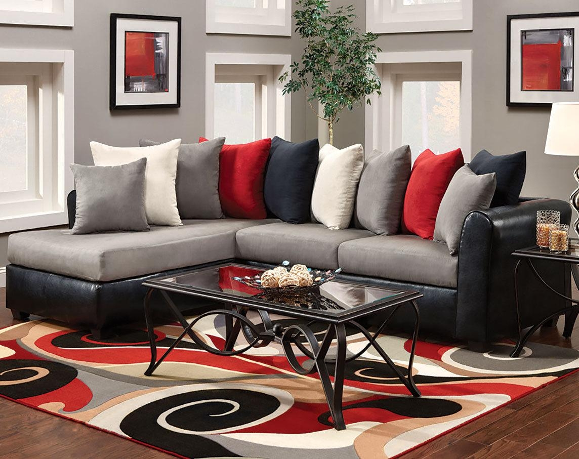 Black And Red Living Room Rugs Shaker Decoration Sectional Dark Within Shaker Sofas (Image 4 of 20)