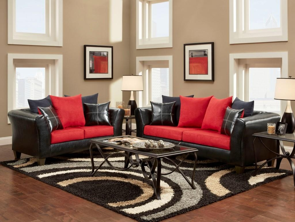 Black And Red Sofa Set 95 With Black And Red Sofa Set With Regard To Black And Red Sofa Sets (Image 5 of 20)