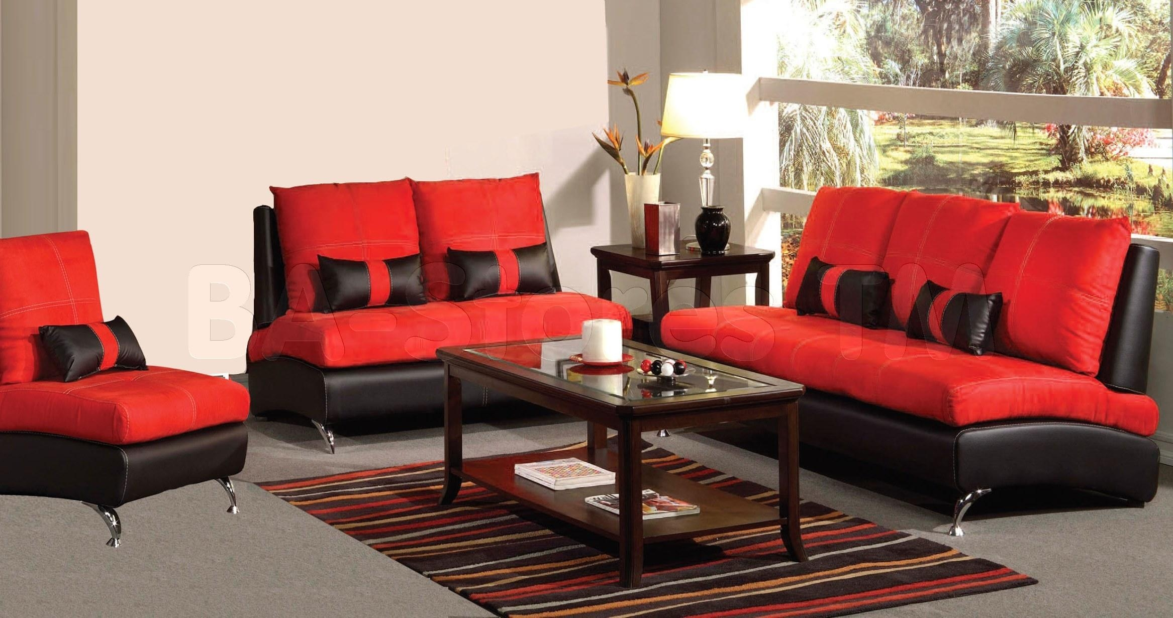 Black And Red Sofa Set | Sofa Gallery | Kengire Pertaining To Black And Red Sofas (Image 7 of 20)