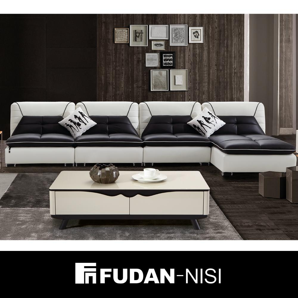 Black And White Leather Sofa, Black And White Leather Sofa Regarding Black And White Leather Sofas (Image 9 of 20)
