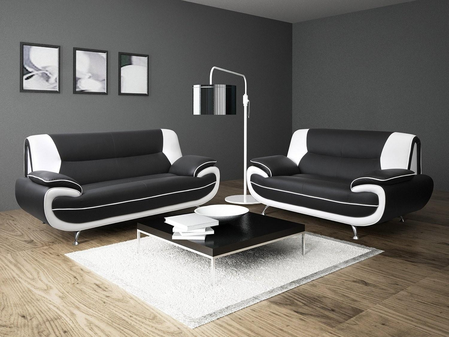 Black And White Leather Sofa Set | Sofa Gallery | Kengire In Black And White Leather Sofas (View 3 of 20)