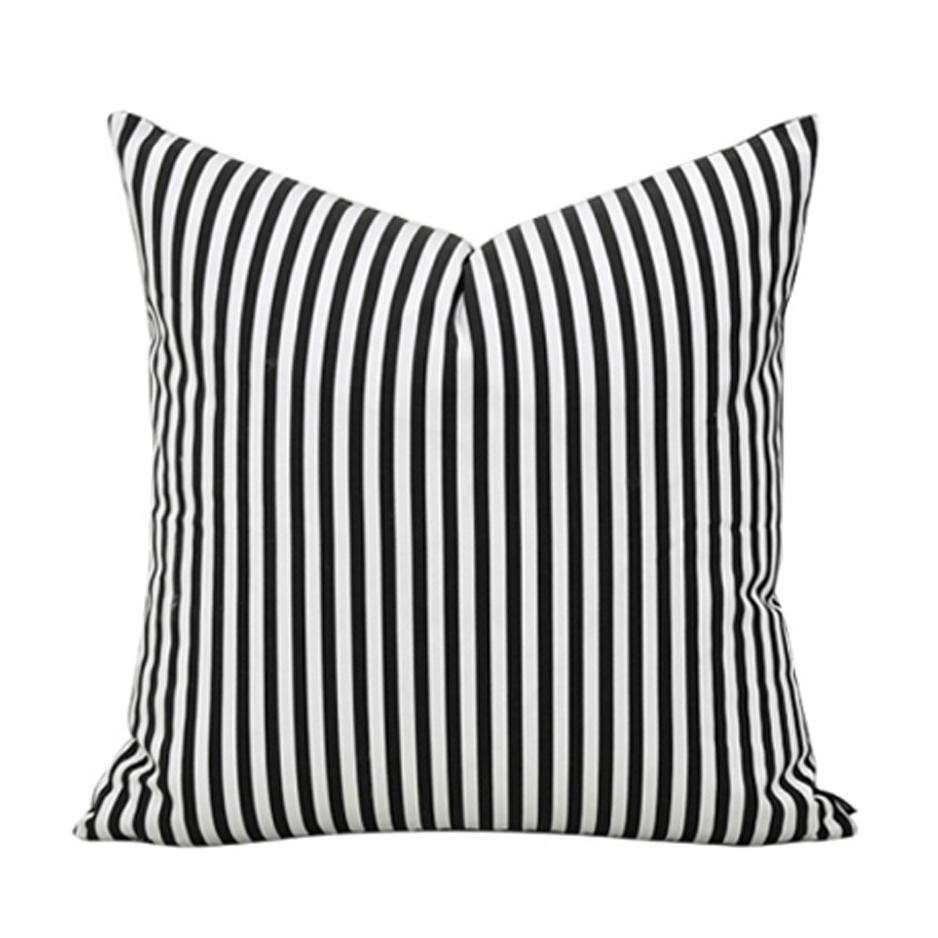 Black And White Sofa Pillows With Design Photo 25621 | Kengire Regarding Oversized Sofa Pillows (Image 6 of 20)