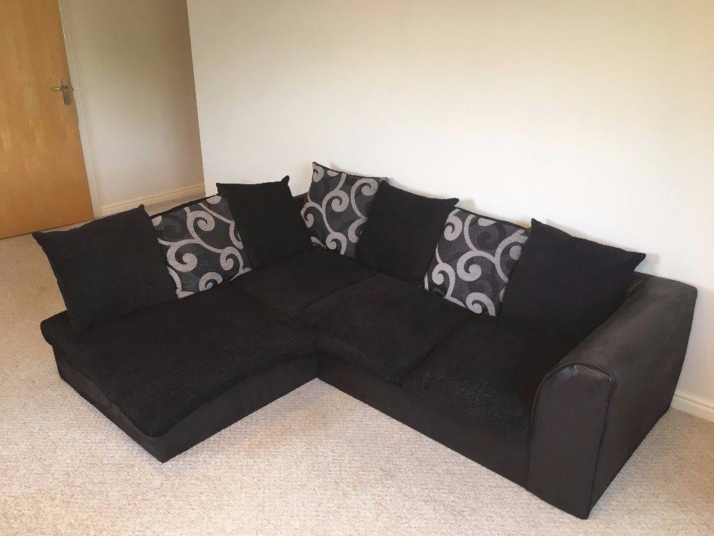 Black Corner Sofa | In Shrewsbury, Shropshire | Gumtree For Black Corner Sofas (Image 4 of 20)