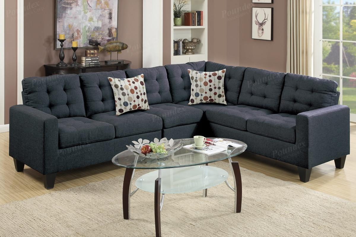 Black Fabric Sectional Sofa – Steal A Sofa Furniture Outlet Los In Black Fabric Sectional (Image 1 of 15)