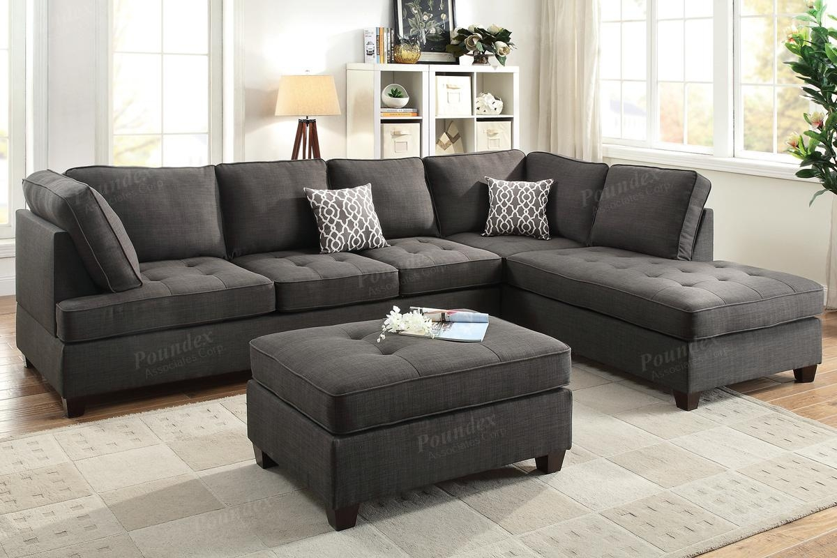 Black Fabric Sectional Sofa – Steal A Sofa Furniture Outlet Los Throughout Black Fabric Sectional (Image 2 of 15)
