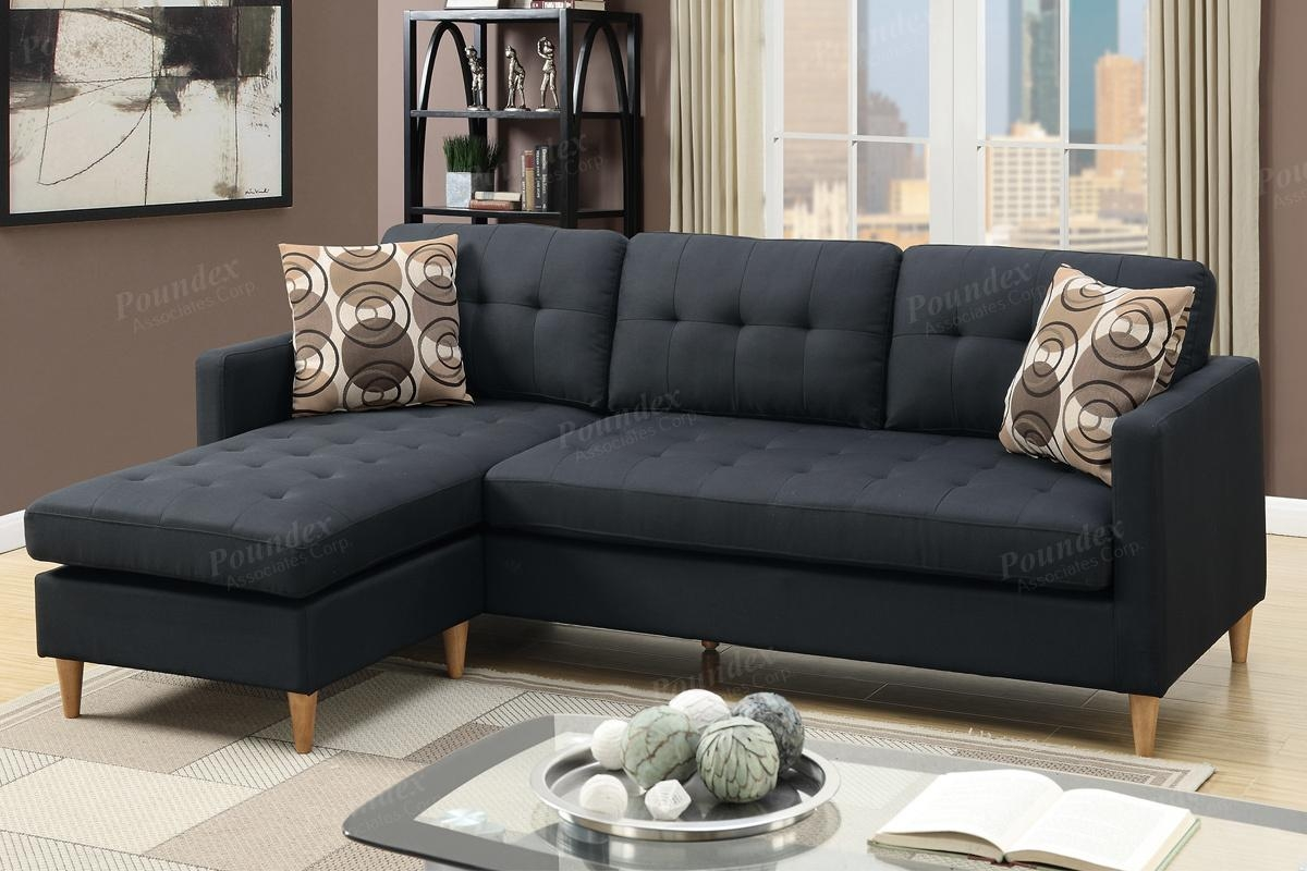 Black Fabric Sectional Sofa – Steal A Sofa Furniture Outlet Los With Black Fabric Sectional (Image 3 of 15)