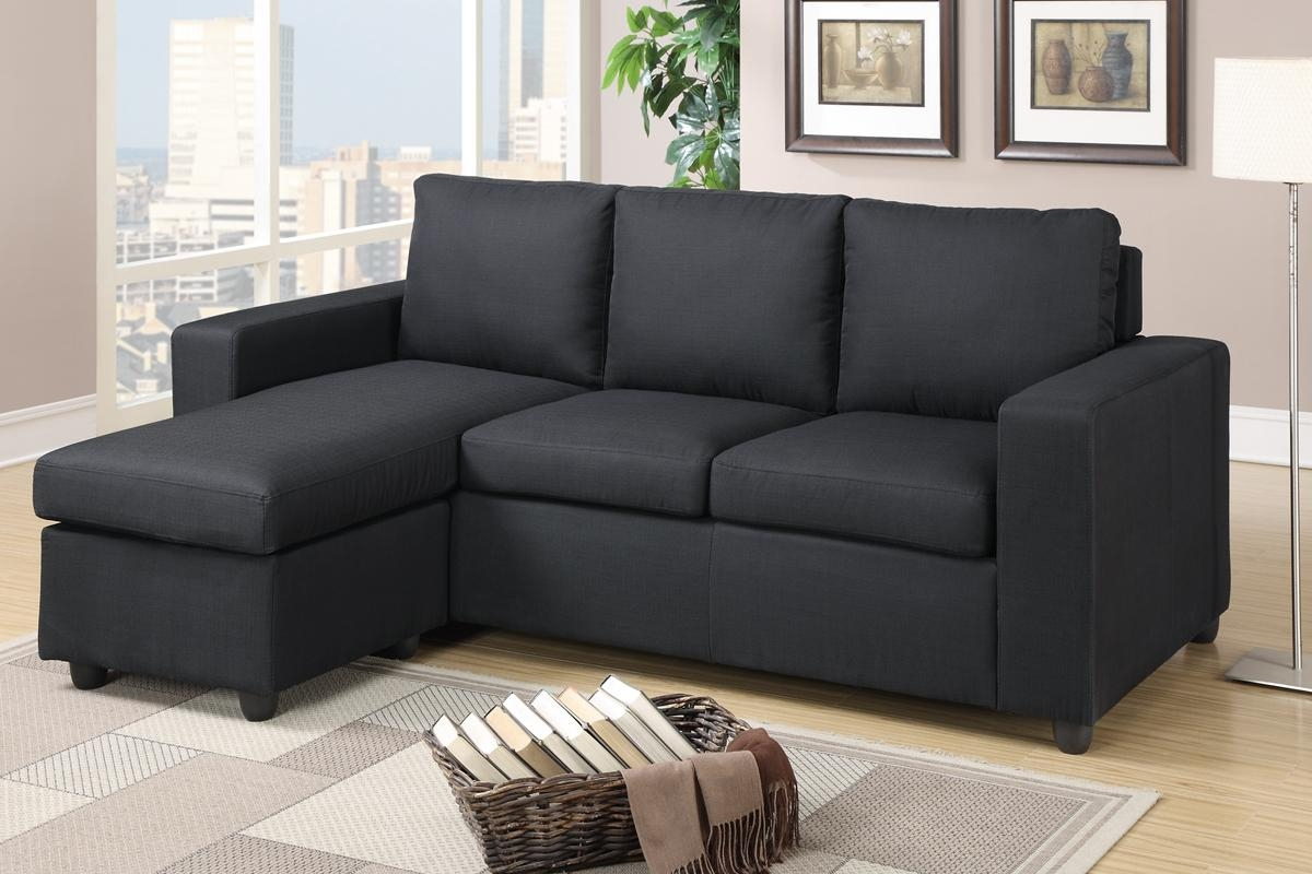 Black Fabric Sectional Sofa – Steal A Sofa Furniture Outlet Los With Poundex Sofas (View 7 of 20)