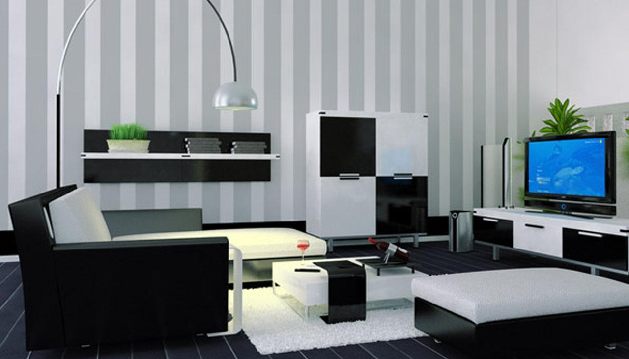 Black Grey And White Living Room Ideas – Creditrestore Regarding Sofas Black And White Colors (Image 10 of 20)