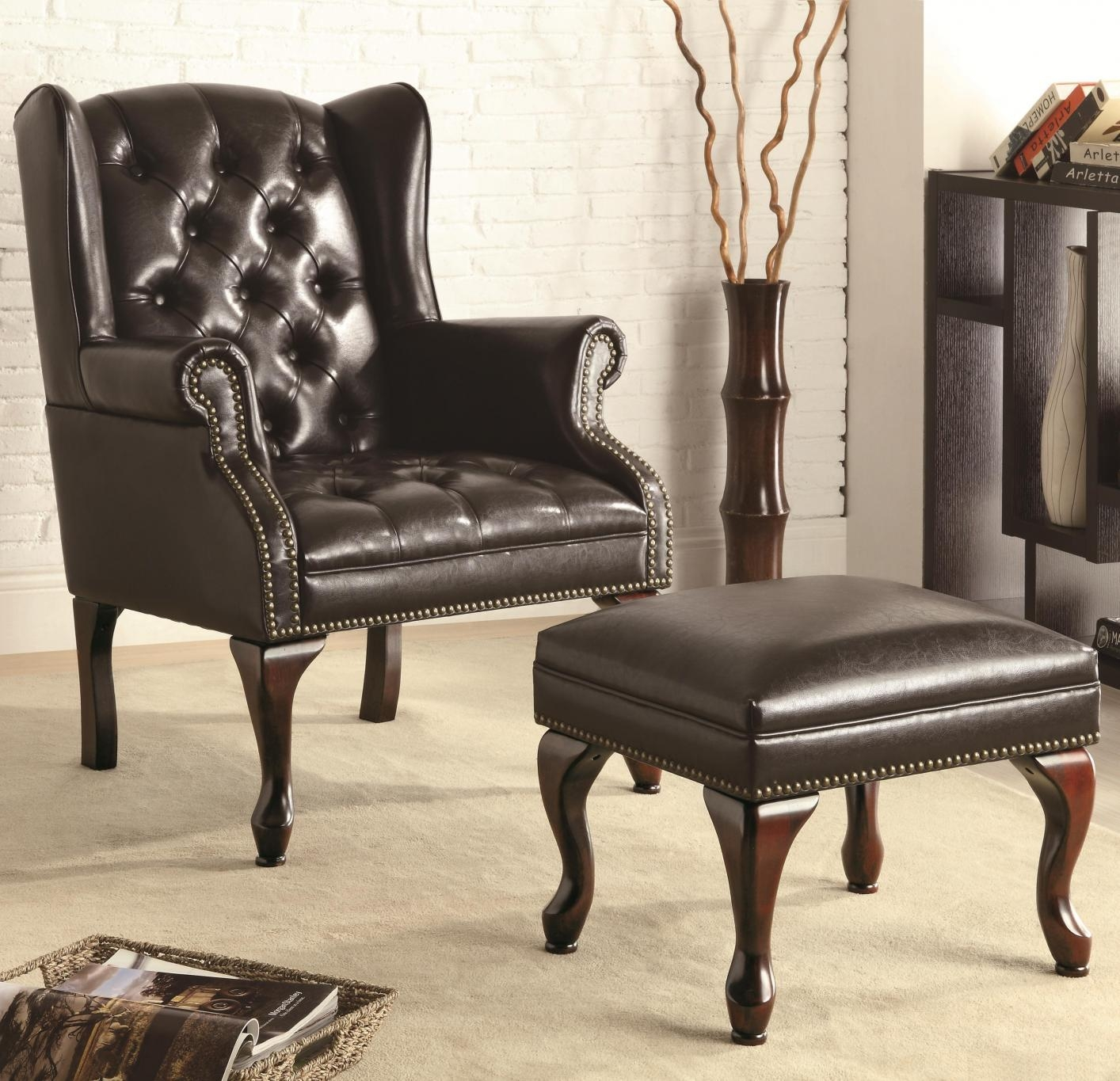 Black Leather Accent Chair – Steal A Sofa Furniture Outlet Los Inside Accent Sofa Chairs (Image 7 of 20)