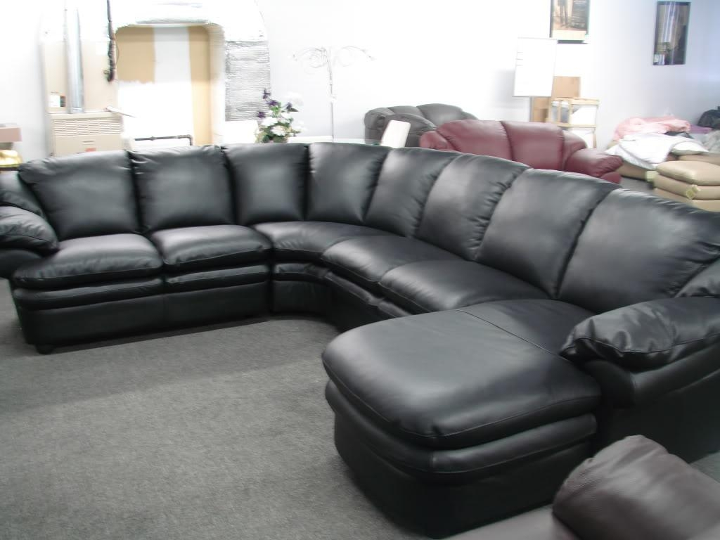 Black Leather Chaise Sofa | Sofa Gallery | Kengire For Black Leather Chaise Sofas (Image 2 of 20)