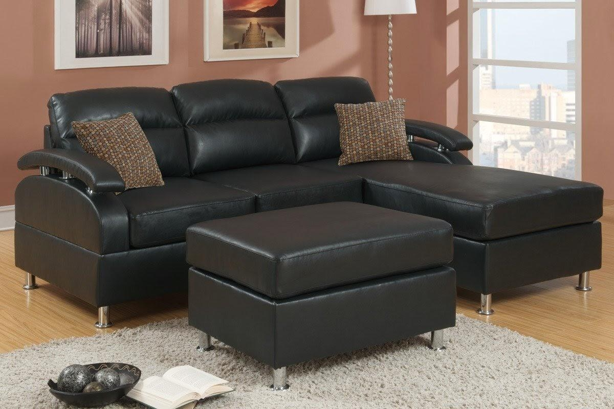 Black Leather Chaise Sofa | Sofa Gallery | Kengire Throughout Black Leather Chaise Sofas (Image 3 of 20)