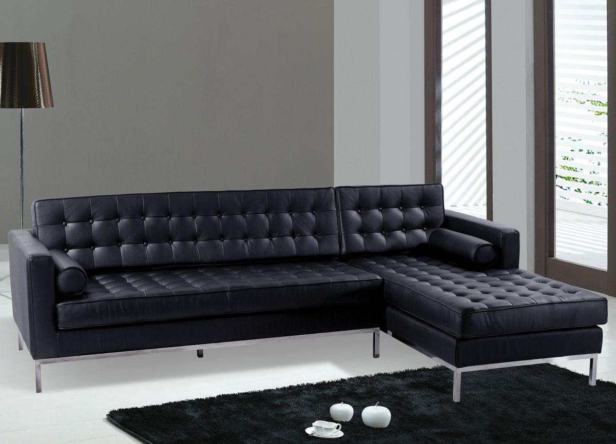 Black Leather Contemporary Sofa With Regard To Contemporary Black Leather Sofas (Image 2 of 20)