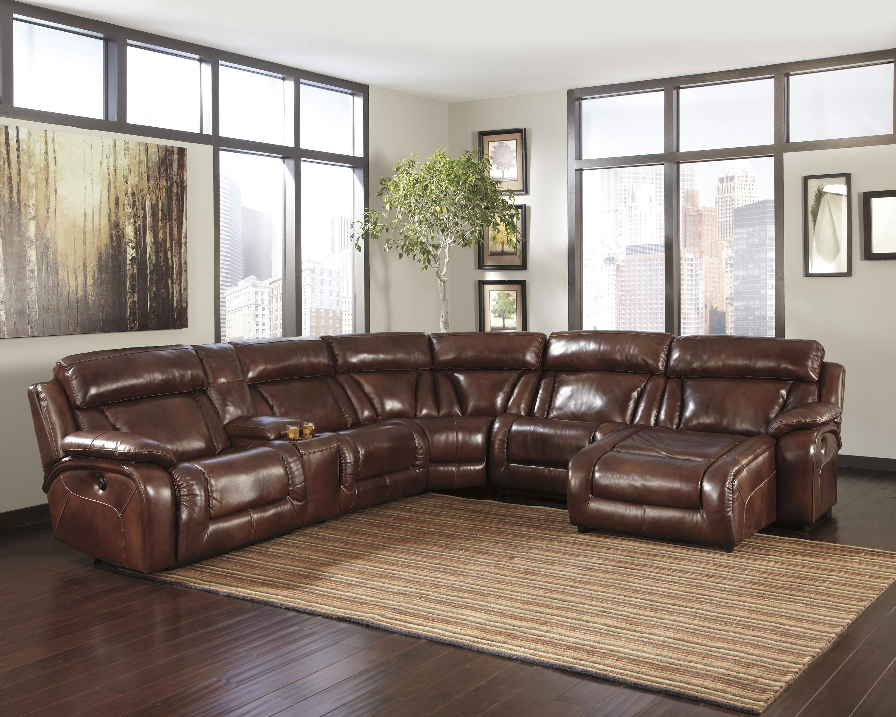 Black Leather Couch Living Room – Destroybmx Inside Ashley Faux Leather Sectional Sofas (View 9 of 20)