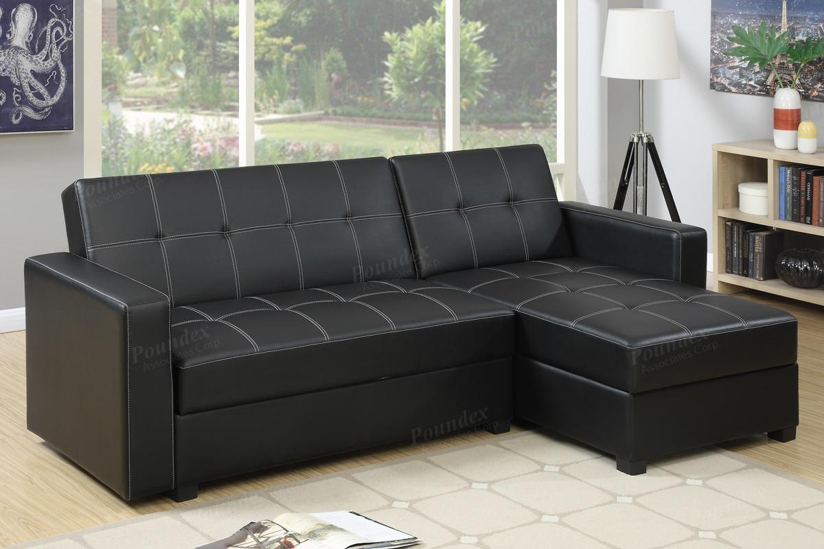 Black Leather Sectional Sofa Bed – Steal A Sofa Furniture Outlet With Sectional Sofa Bed With Storage (Image 1 of 20)