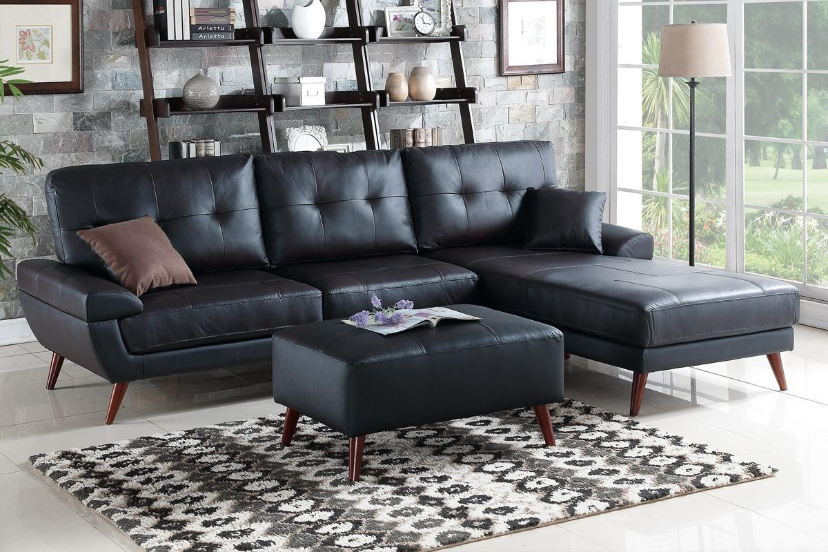 Black Leather Sectional Sofa – Steal A Sofa Furniture Outlet Los For Sectional Sofas Los Angeles (Image 2 of 20)