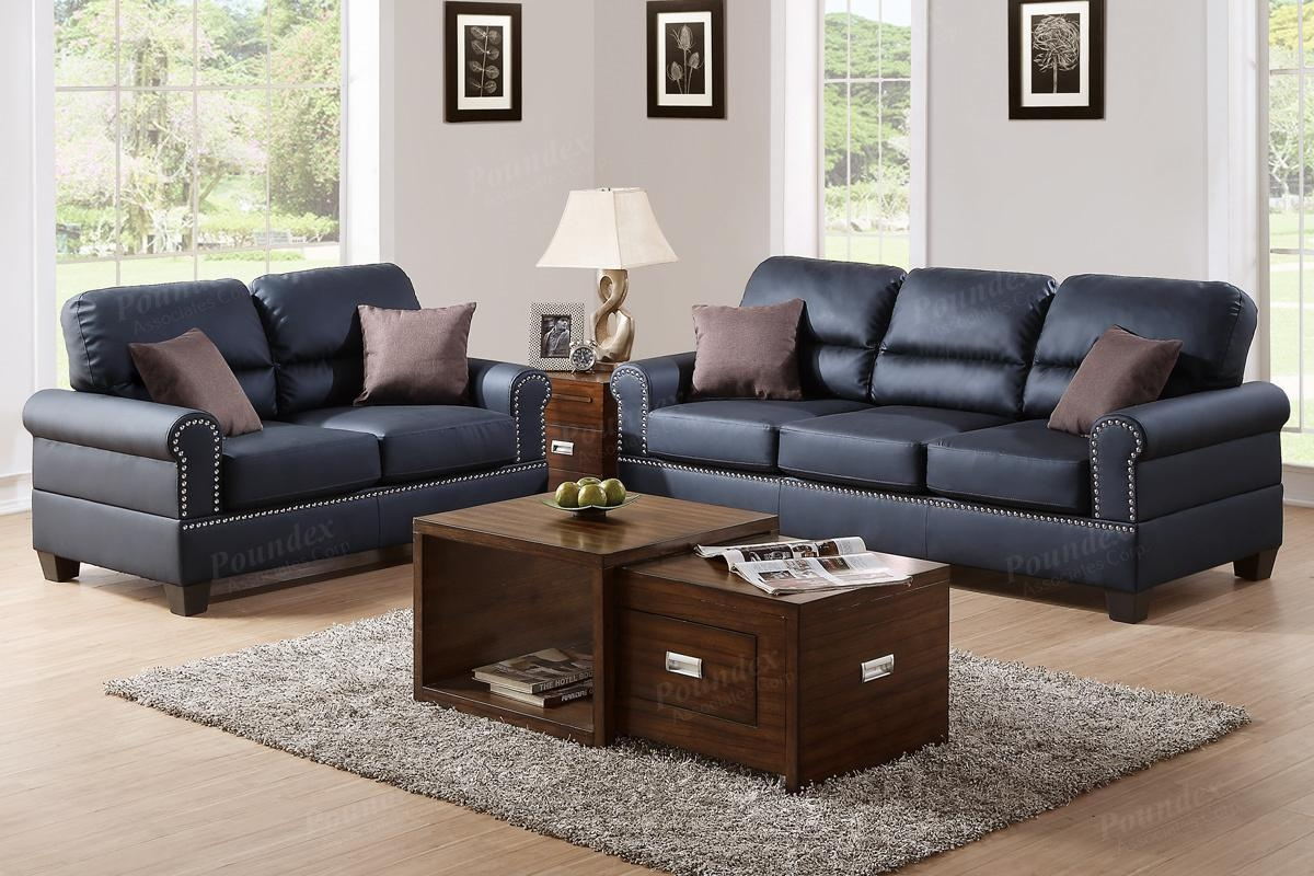 Black Leather Sofa And Loveseat Set – Steal A Sofa Furniture Pertaining To Black Leather Sofas And Loveseats (Image 4 of 20)