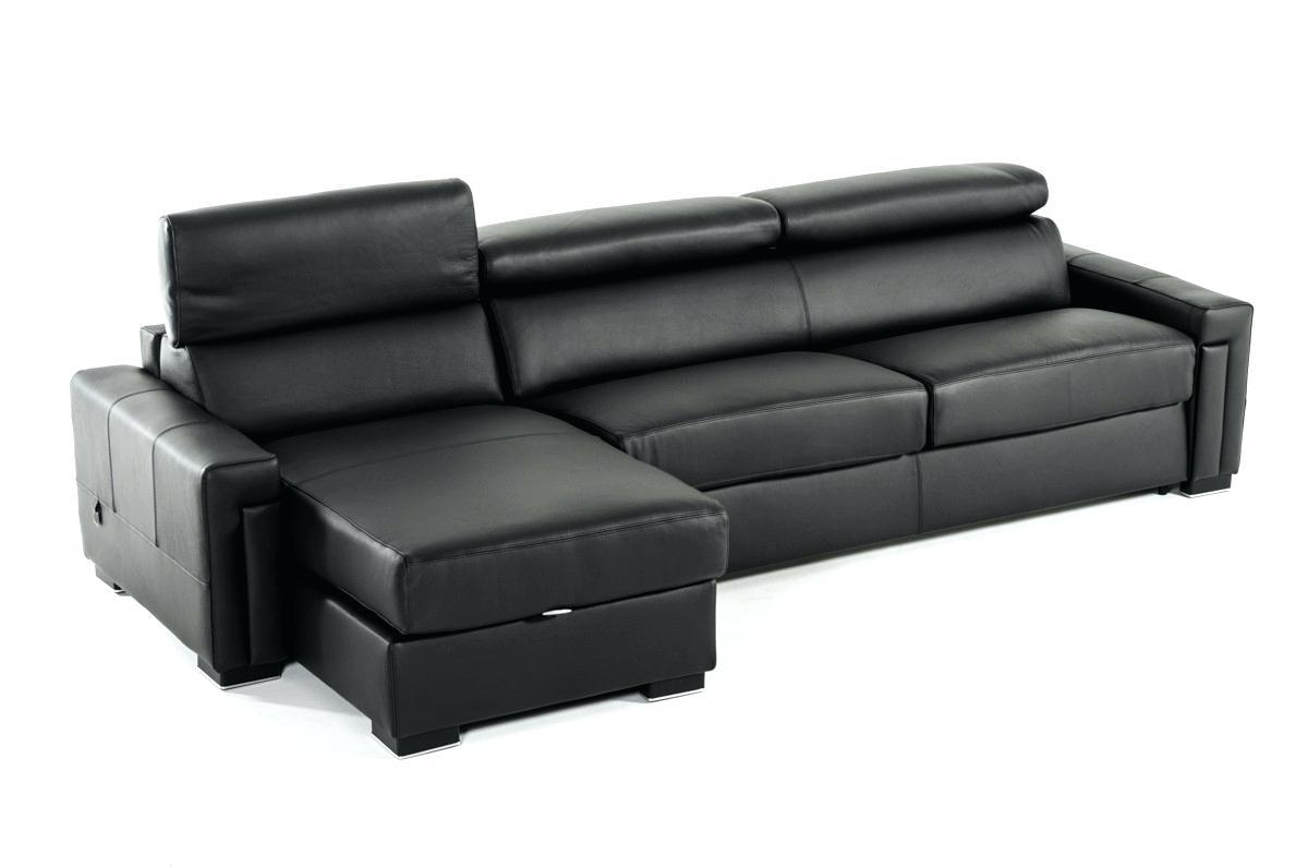 Black Leather Sofa Beds – Lenspay Pertaining To Leather Sofa Beds With Storage (Image 4 of 20)