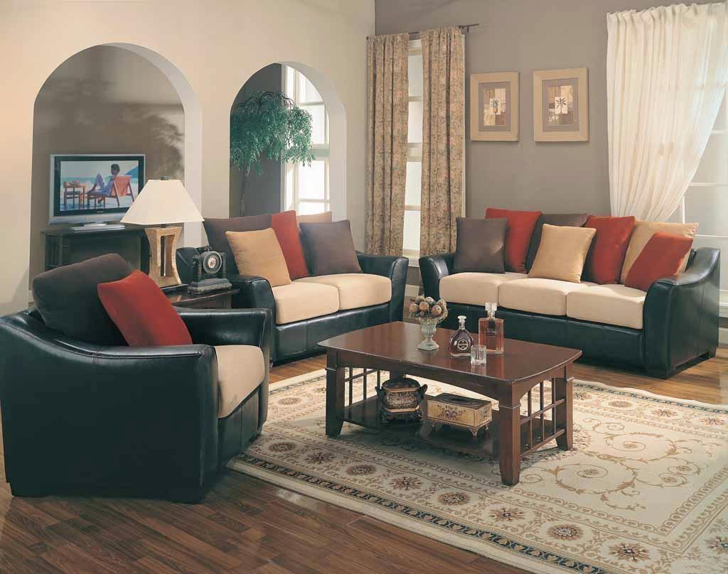 Black Leather Sofa Decorating Ideas Throughout Black Sofas Decors (Image 8 of 20)