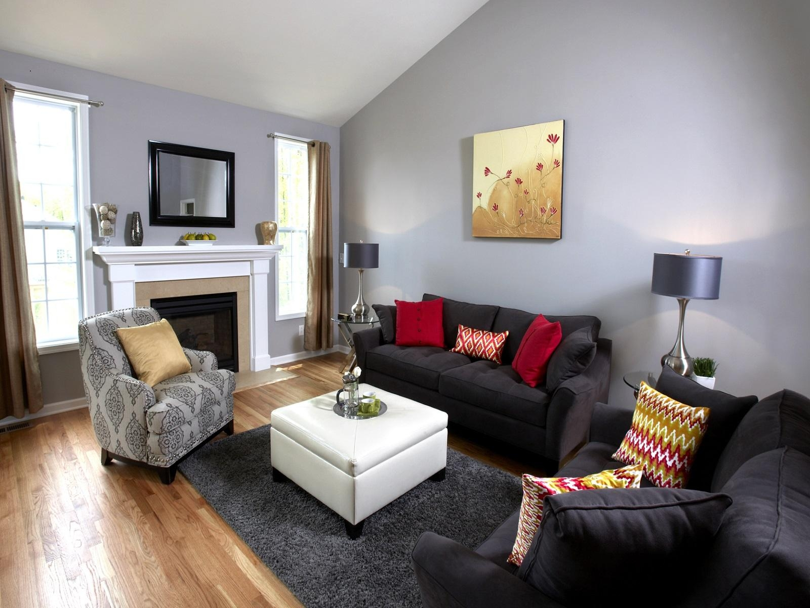 Black Leather Sofa Living Room Ideas Best 25+ Black Leather With Regard To Black Sofas Decors (View 8 of 20)