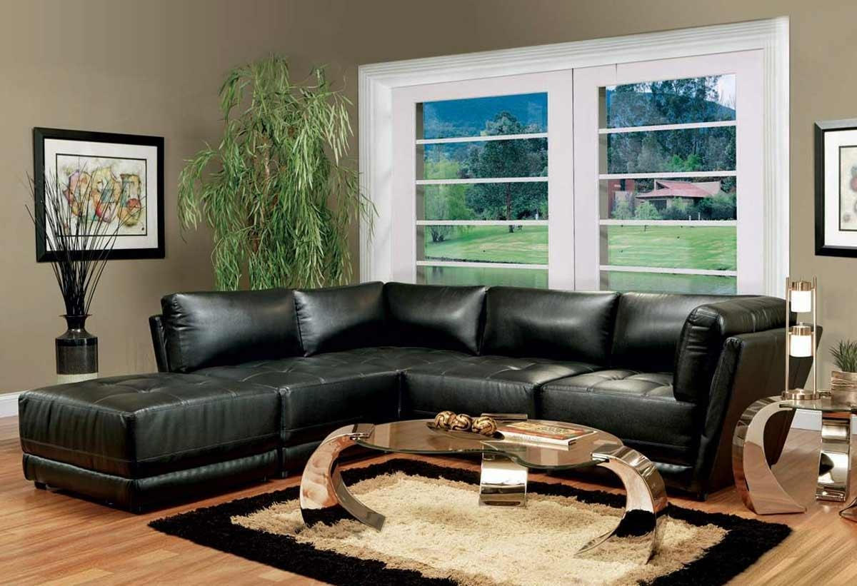 Black Living Room Furniture Cheap – Creditrestore Pertaining To Small Black Sofas (Image 2 of 20)