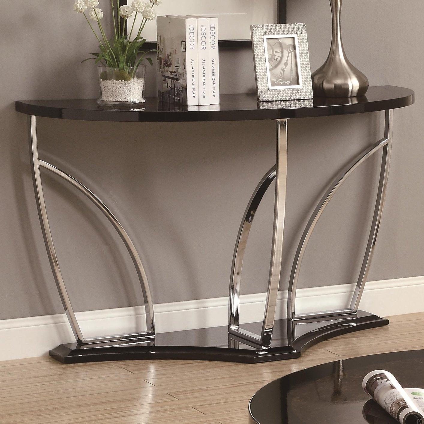 Black Marble Sofa Table – Steal A Sofa Furniture Outlet Los Angeles Ca Intended For Chrome Sofa Tables (Image 1 of 20)