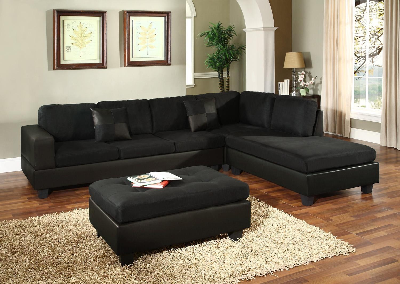 Black Microfiber Sleeper Sofa | Tehranmix Decoration Within Microsuede Sleeper Sofas (Image 1 of 20)
