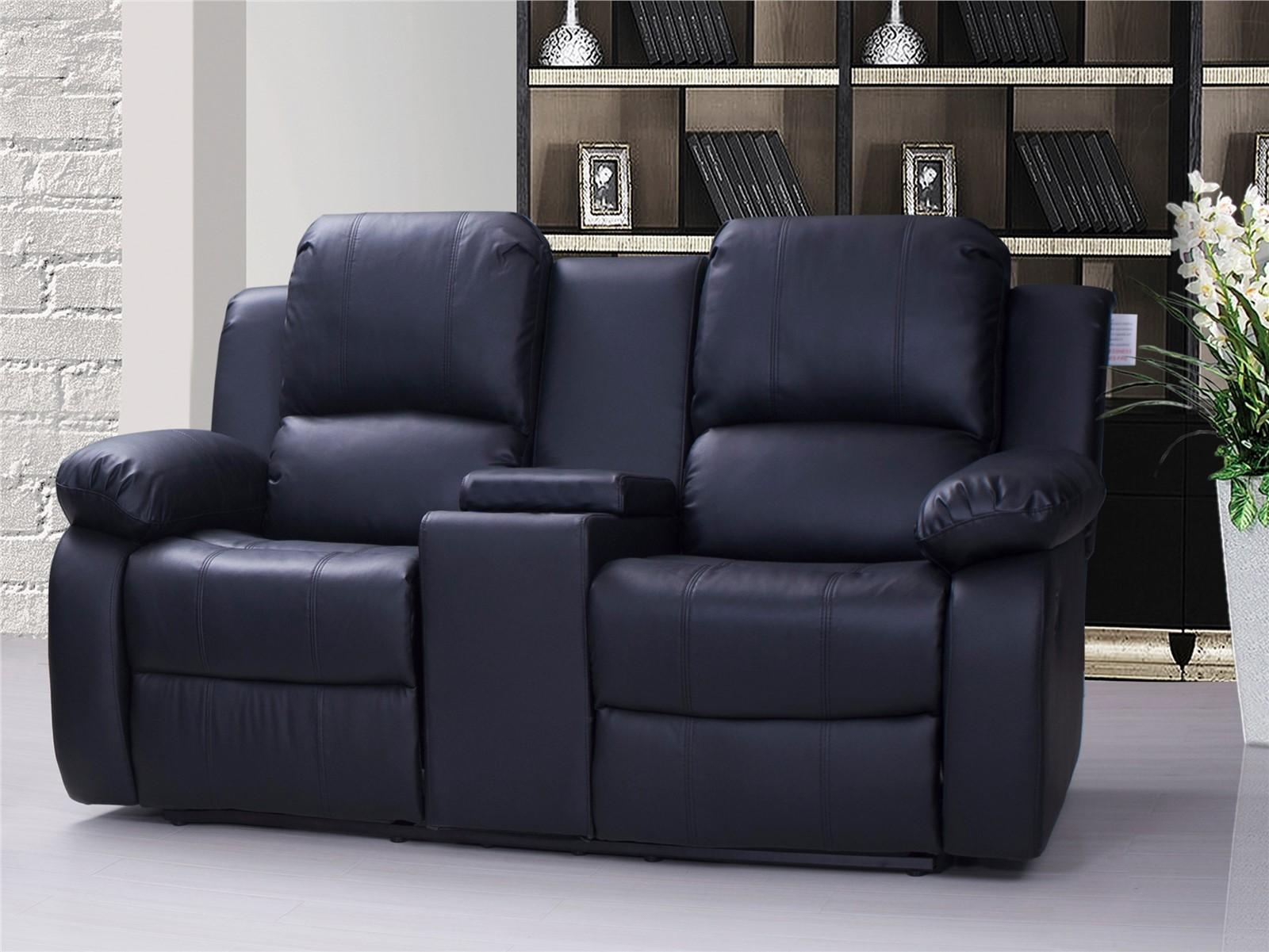 Black Reclining Sofa With Console | Tehranmix Decoration Regarding Sofas With Console (View 5 of 20)