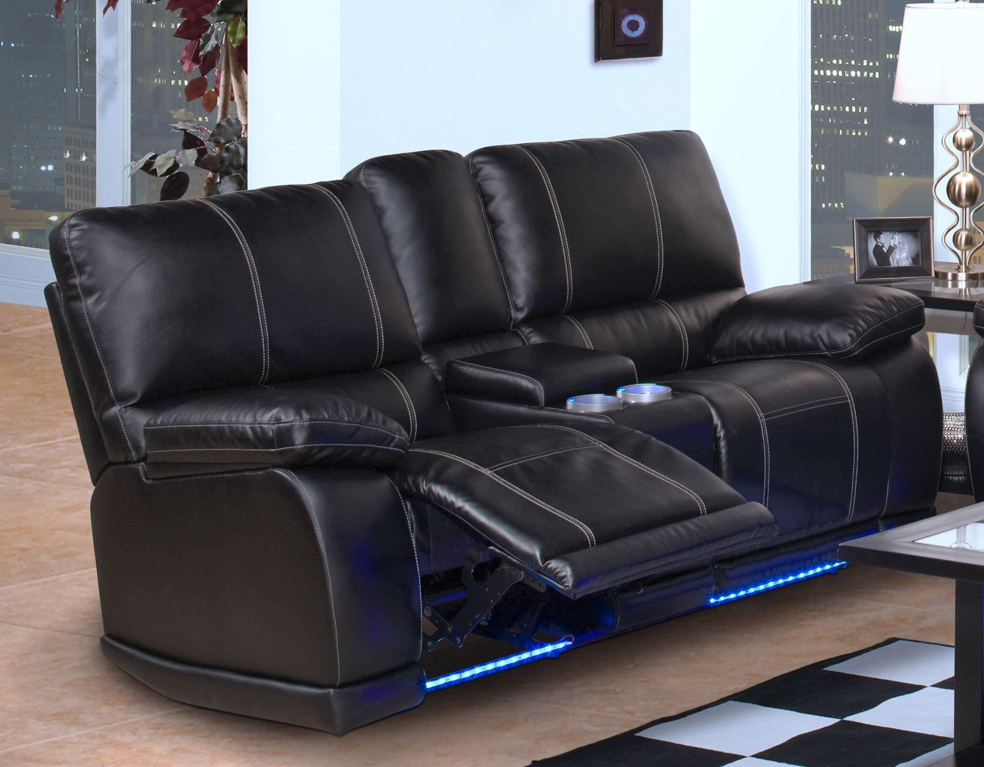 Black Reclining Sofa With Console | Tehranmix Decoration Throughout Sofas With Console (Image 2 of 20)