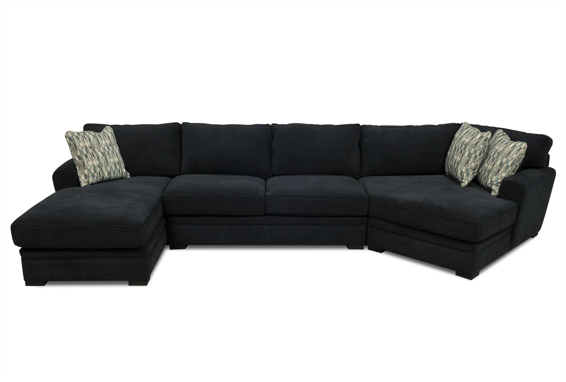 Black Sectional Sofas For Suede Sectionals (Image 1 of 20)