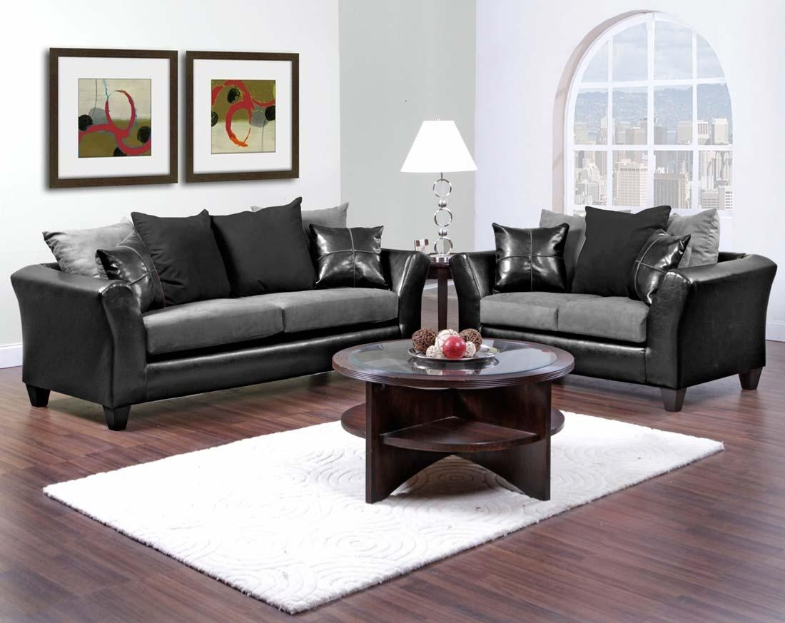 Black Sofa And Loveseat Set | Tehranmix Decoration Regarding Black And White Sofas And Loveseats (View 16 of 20)