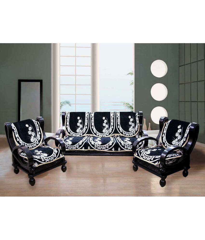 Black Sofa Covers | Sofas Decoration In Black Sofa Slipcovers (Image 4 of 20)