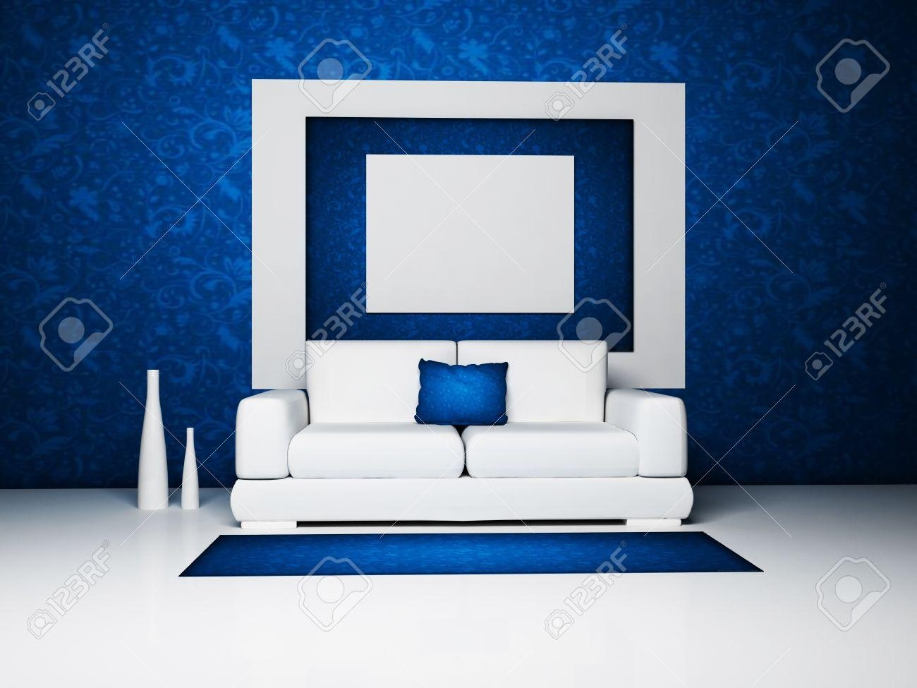 Blue And White Sofa ~ Uballs With Blue And White Sofas (Image 7 of 20)
