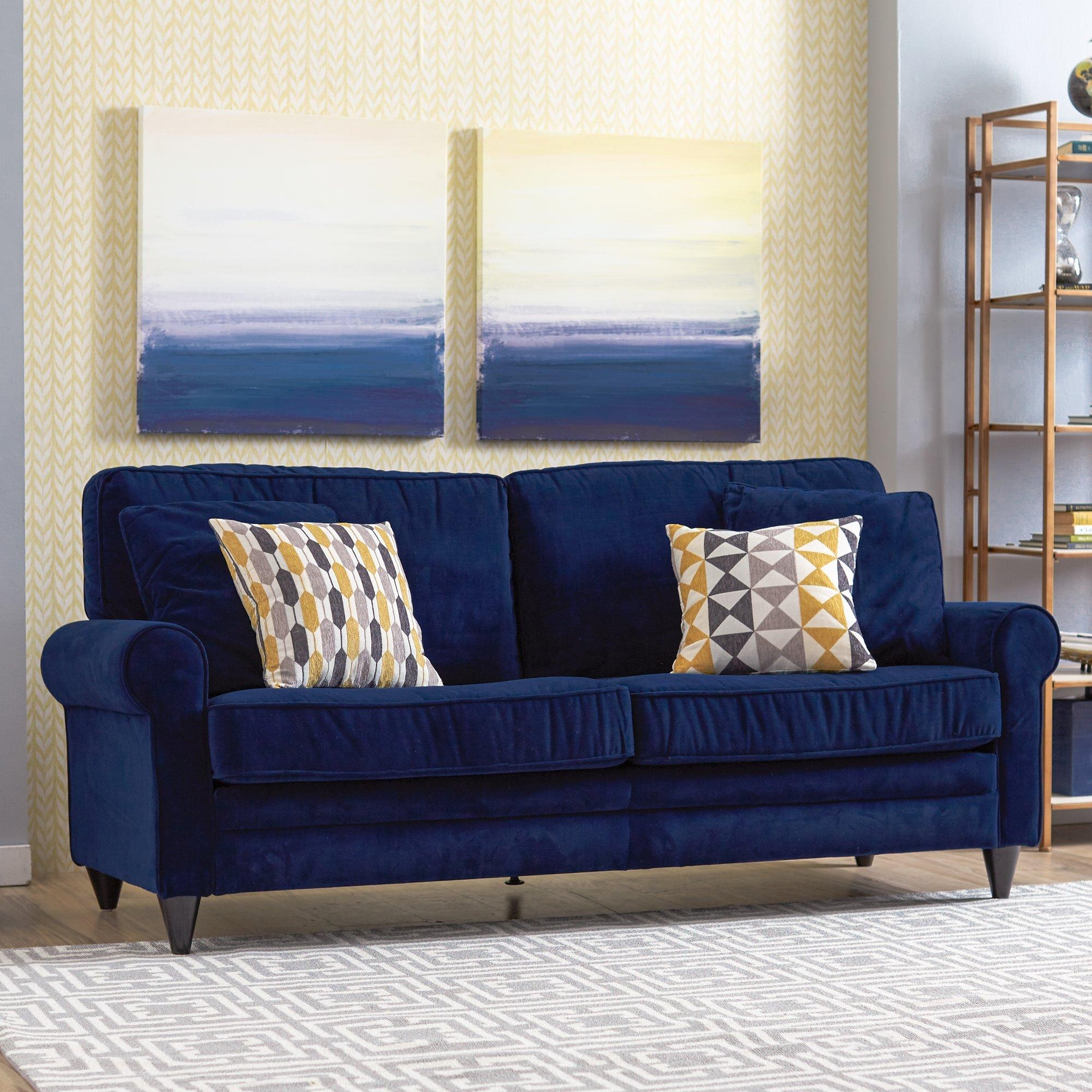 Blue Denim Sofa | Wayfair | Tehranmix Decoration Pertaining To Blue Denim Sofas (View 9 of 20)