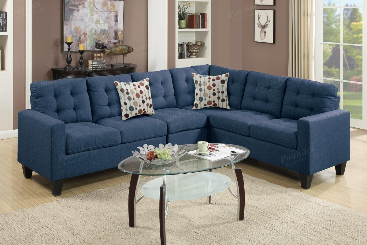 Blue Fabric Sectional Sofa – Steal A Sofa Furniture Outlet Los Regarding Sectional Sofas Los Angeles (Image 4 of 20)