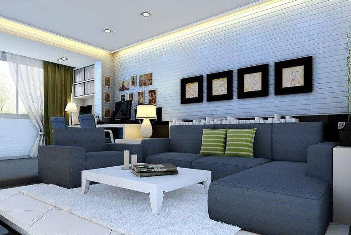 Blue Gray Sofa With Concept Hd Images 26079 | Kengire Throughout Blue Gray Sofas (Image 4 of 20)