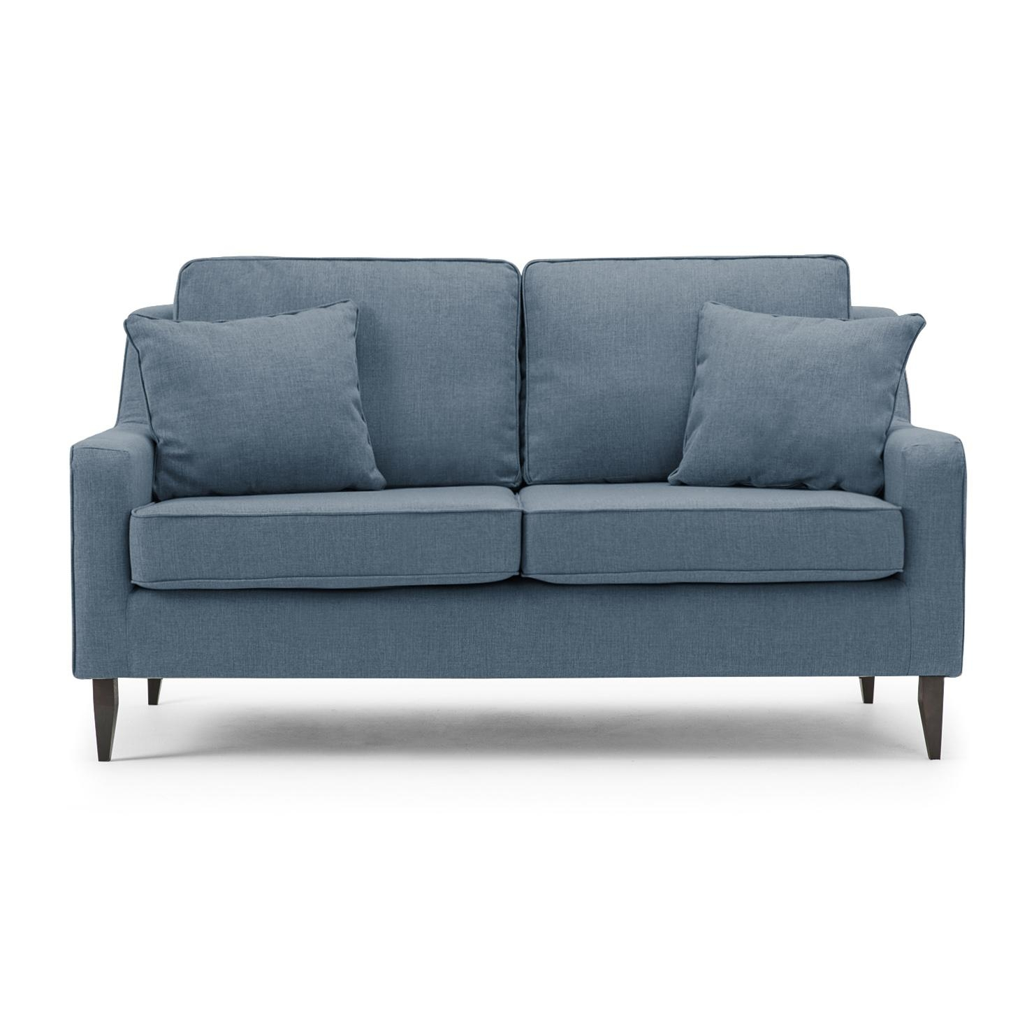 Blue Grey Sofa Bello Modern 3 Seat Sofa Blue Grey – Gallery Image Within Blue Grey Sofas (Image 4 of 20)