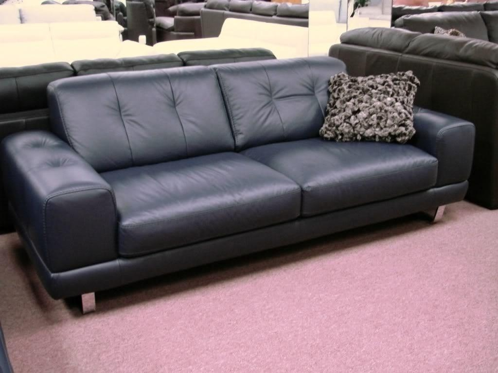Blue Leather Sectional Sofa | Sofa Gallery | Kengire For Blue Leather Sectional Sofas (Image 3 of 20)