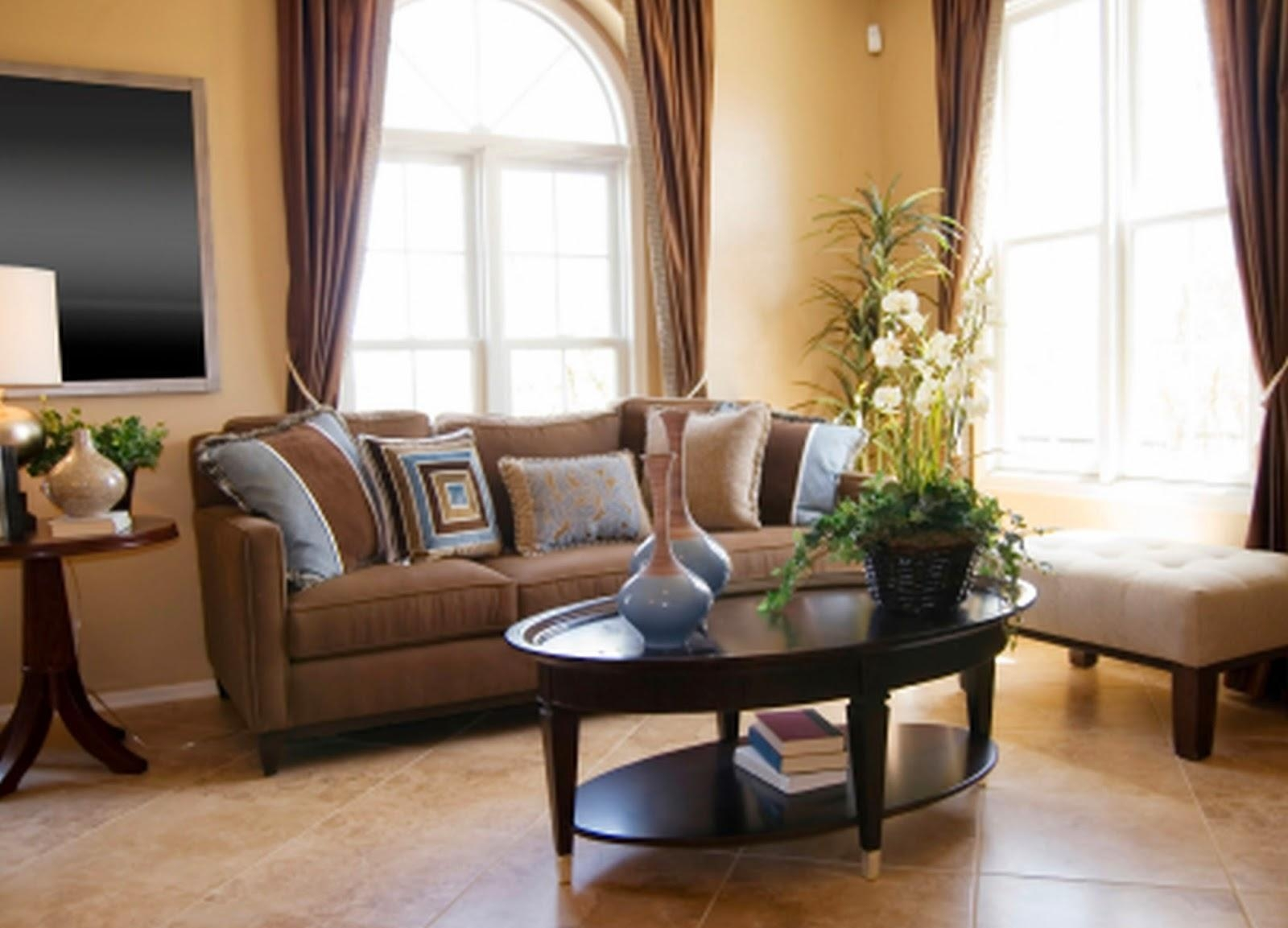 Blue Living Room With Brown Furniture Design 85 Best Brown Pertaining To Brown Sofas Decorating (View 6 of 20)