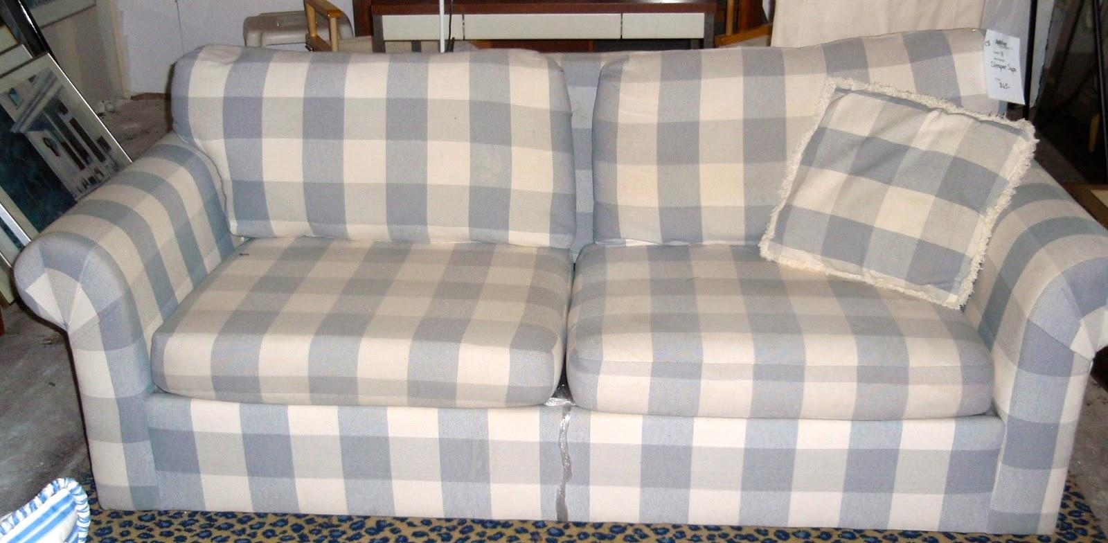 Blue Plaid Sofa With Ideas Hd Images 26160 | Kengire Within Blue Plaid Sofas (Image 5 of 20)