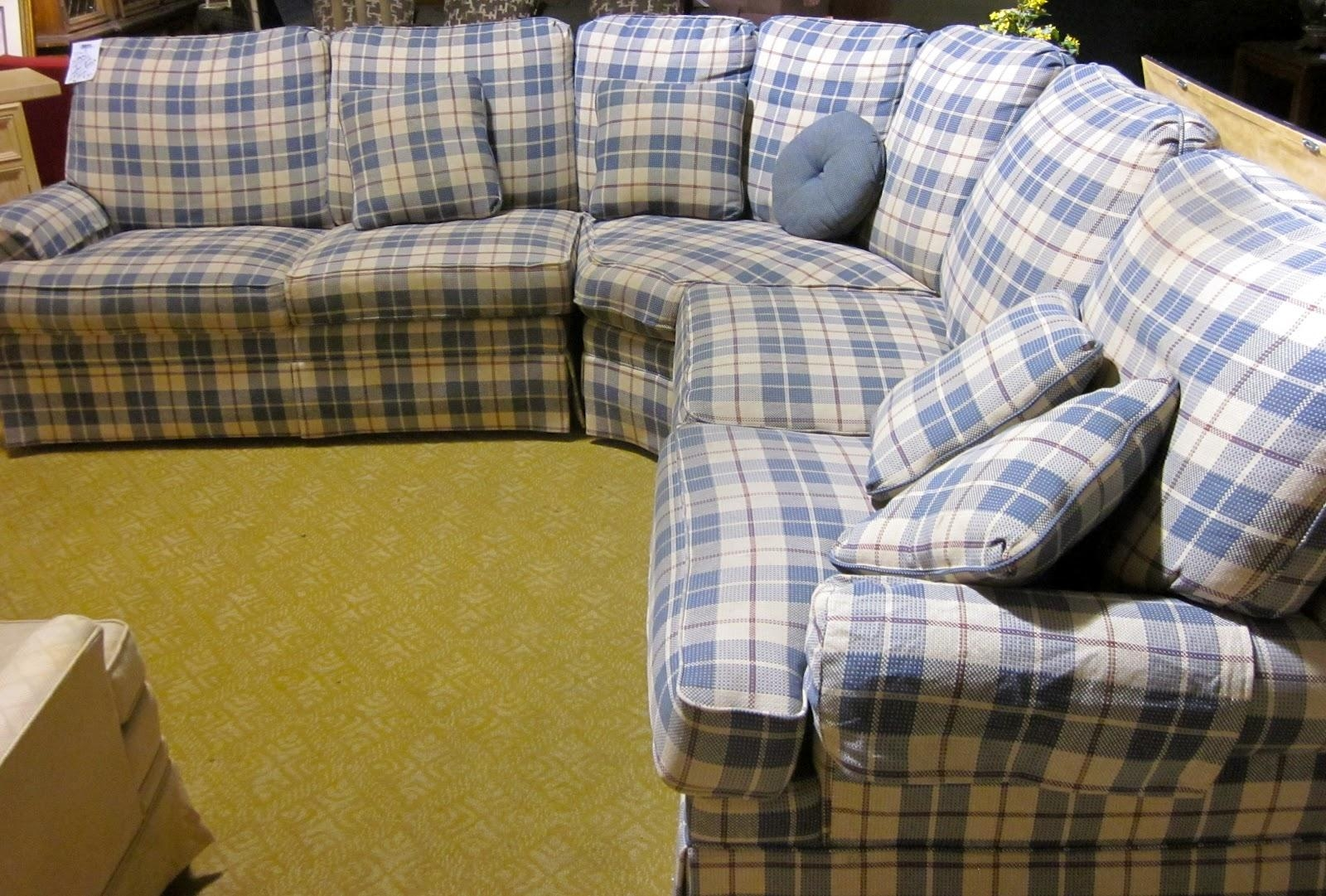 Blue Plaid Sofa With Inspiration Design 26142 | Kengire For Blue Plaid Sofas (View 3 of 20)