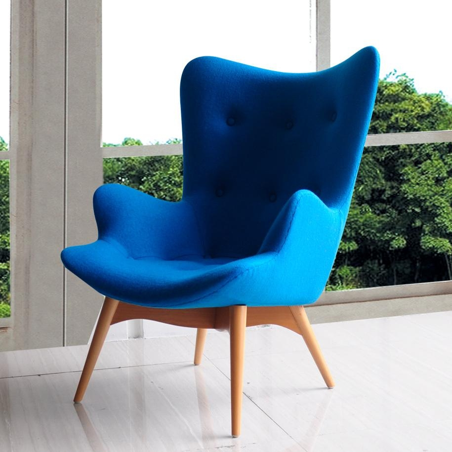 Blue Sofa Chair With Design Ideas 26206 | Kengire In Blue Sofa Chairs (Image 7 of 20)