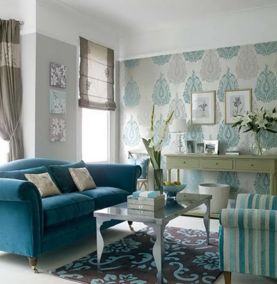 Blue Sofa Living Room
